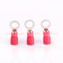 цена на  TO-JTK type Circular Pre-insulating Terminal RV1.25-3 Red Cold pressed terminals/Cable Connector/Wire Connector