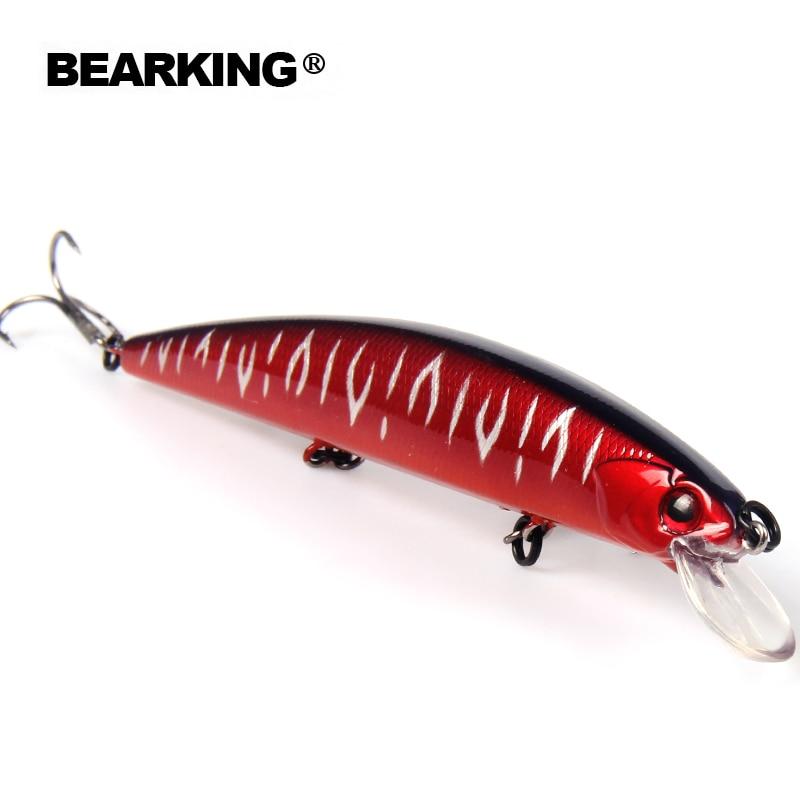 Bearking 2017 excelentes Señuelos de Pesca minnow, cebos profesionales de calidad 13 cm/21g modelo caliente crankbaits panceil bait popper