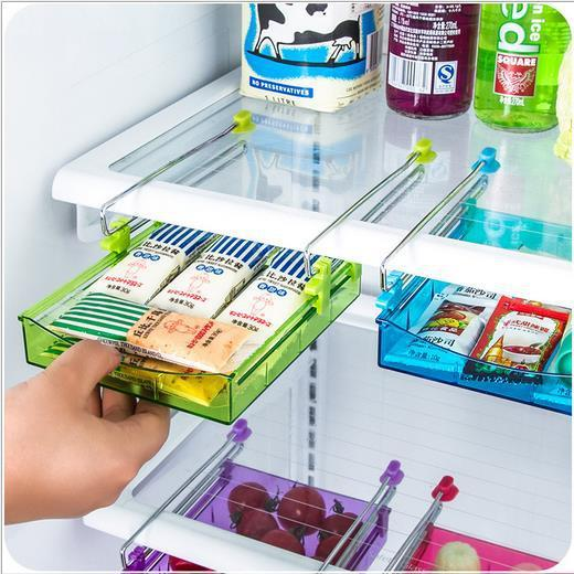 Storage Holders Racks Refrigerator fresh layer of multi-partition space efficient storage rack kitchen twitch type glove box