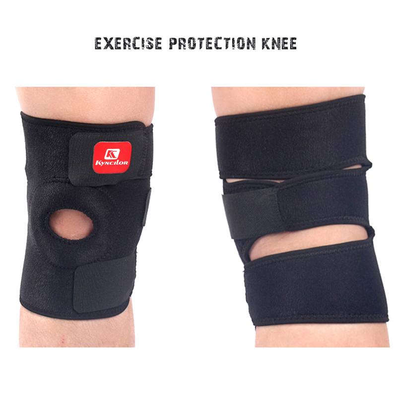 Elastic Knee Support Brace Kneepad Adjustable Patella Knee Pads  Safety Guard Strap For Basketball Free Size