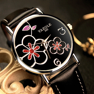 Image 4 - Nowa oferta luksusowej marki zegarka kobiet zegarki zegarek na co dzień mody panie zegar lady zegarek kwarcowy Relogio Feminino kwiat