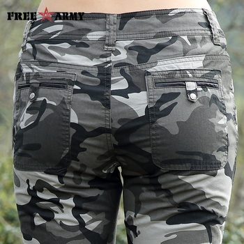 Freearmy Brand New Fashion Summer Style Knee-Length Short Trousers Women's Military Style Camouflage Ladies Short Pants  Cotton  5