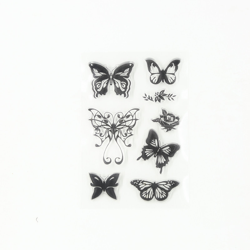 kinds of butterfly seals Transparent Clear Stamp DIY Silicone Seals Scrapbooking Card Making Photo Album craft TM-094 lovely animals and ballon design transparent clear silicone stamp for diy scrapbooking photo album clear stamp cl 278