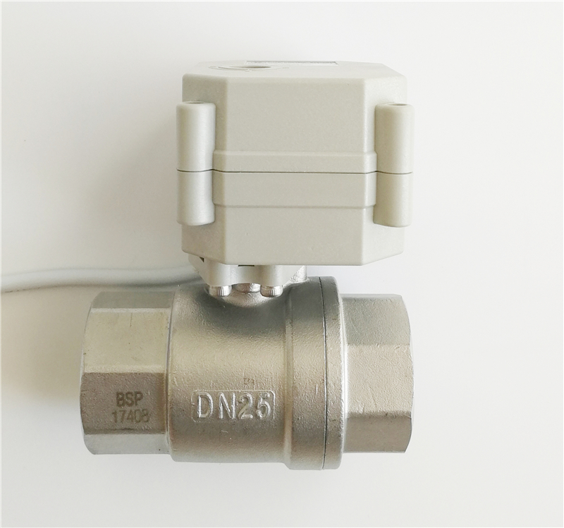 Tsai Fan 2 way full port SS316 1'' electric ball valve with indicator DN25 AC/DC9V 24V normal open normal close elctric valve