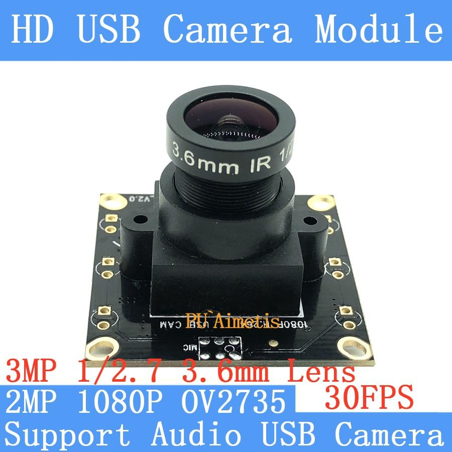 2 мп камера видеонаблюдения 1080P HD MJPEG 30fps OV2735 Mini CCTV Android Linux OTG UVC веб-камера с USB-модулем