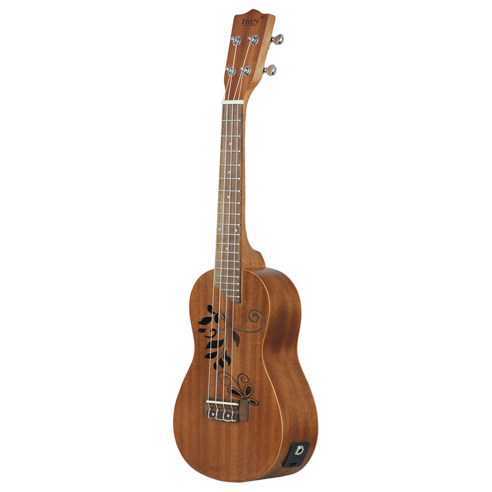 New IRIN 24 inch Ukulele Sapele Wood Ukelele Uke Kit with LCD EQ