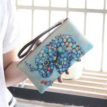 2016 Fashion New Designed  Women Lady Leather Wallet Purse Lady Long Card Phone Bag Gift Hot Sale Holders