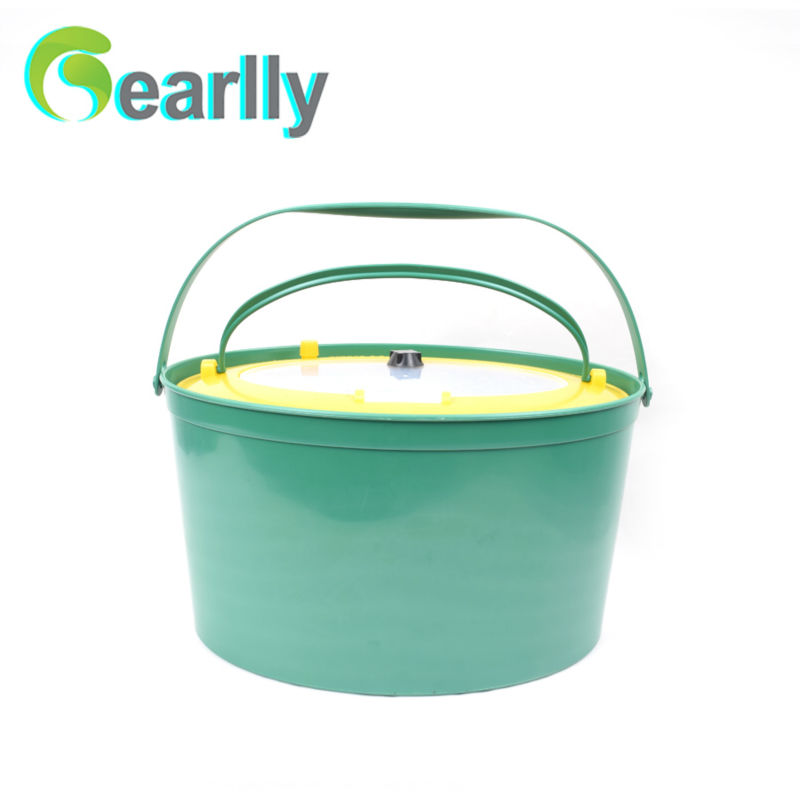 Gearlly 5l fishing bucket fish tank plastic bucket fishing box fishing tackle 4 color 50cm big folding live fish box thick eva carp rod bucket water tank with handle bags fishing tackle tools accessories