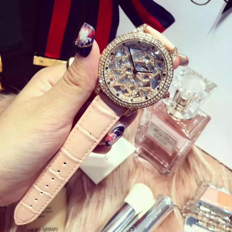 Luxury Brand Diamond Orologio Donna Fashion Rhinestone Watch Women Casual Leather Clock Female Quartz Ladies Wristwatch relojes hot luxury brand fashion orologio donna fashion business watch women casual leather clock female quartz ladies wristwatch