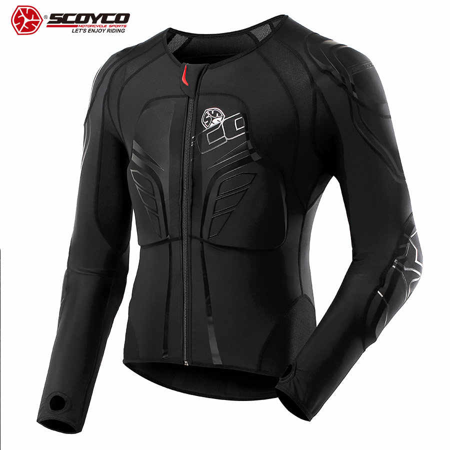 SCOYCO Motorcycle Riding Armor Clothing Shockproof Suit Soft Clothing Driving Armor 7 pieces Protective Gear Four Seasons AM03