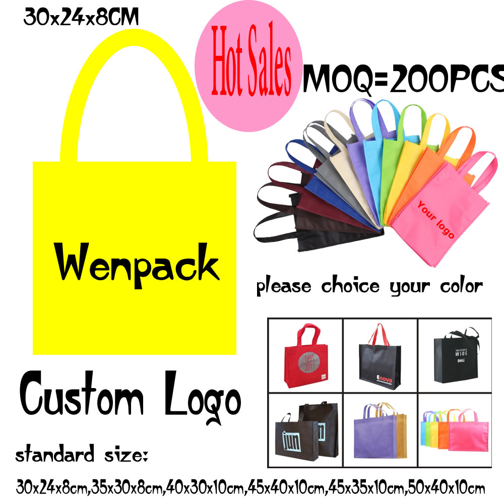 custom printed logo hand handle shopping gift non woven bag for promotion non woven cloth and