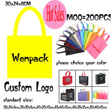custom printed logo  hand handle shopping gift non woven bag for promotion non woven cloth and fashion