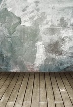 Vinyl print grunge art wall with floor photography backdrops for photo studio portrait or party backgrounds F-635
