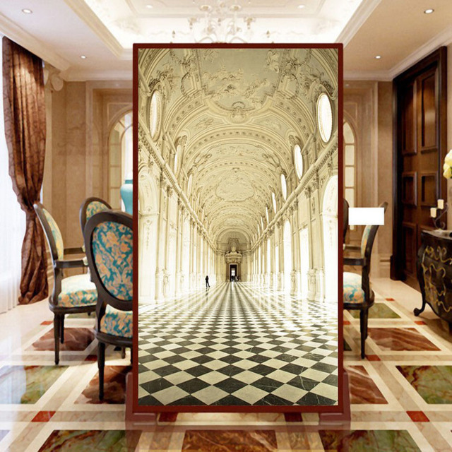 Photo wallpaper Stereo 3D porch corridor bedroom living room vertical version background wall European palace wallpaper mural