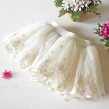2015 New Girls Tutu Skirt White Lace  Princess Show Children  Mini Kids Skirts Baby Children Clothing
