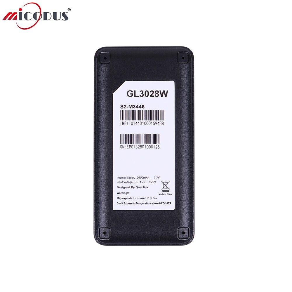 Mini WCDMA GL3028W font b Car b font GPS Trackers Waterproof 2600mah font b Battery b