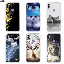 8C Soft TPU Case For Huawei Honor 8C Cover 6.26 Silicone For Honor 8C 8 C BKK-L21 Back Cover Phone Cases Painting Flower Style(China)