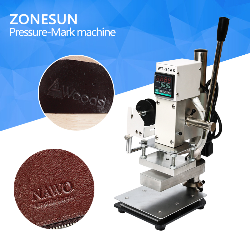ZONESUN Two Work Plate Hot Foil Stamping Machine Manual Bronzing Machine for PVC Card leather and paper stamping machine zonesun hot foil stamping machine manual bronzing machine for pvc card leather and paper stamping machine