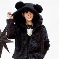 Women New Arrival Rabbit Fur Coat Faux Fur Jacket Lady Winter Fur Outwear Hot Sale Cute