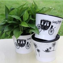 Белые горшки для растений домашний сад офисный декоративный горшок для цветов пластиковые горшки для цветов Садовые принадлежности автоматический полив