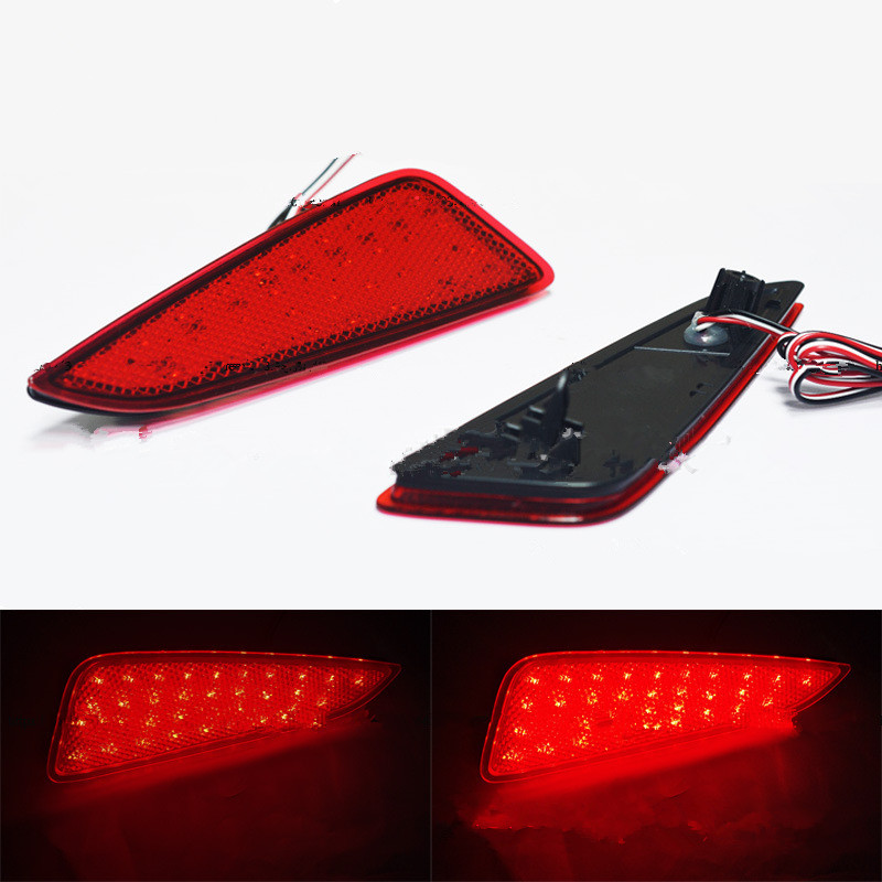 CYAN SOIL BAY Red lens LED Rear bumper reflector tail light brake stop turn signal reverse Lamp for Toyota C-HR 2016-2018 cyan soil bay car led rear bumper reflector red parking warning stop brake light tail fog lamp for honda accord 9th 2014 2016
