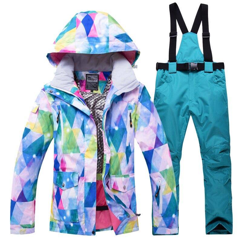 Snowboard costumes femmes ski en plein air ensemble coupe-vent imperméable à l'eau hiver femmes sports de plein air vestes - 5