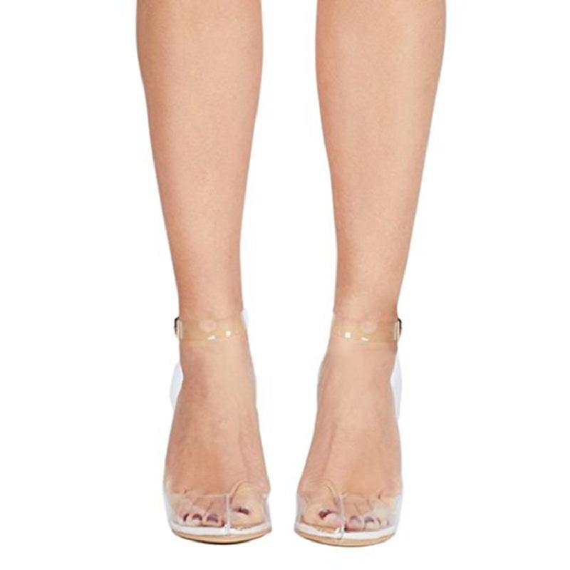 Zapatos Punta Correa As Eunice Bombas Las Vestido Picture Sandalias Mujeres Señoras Verano De Altos Casual Choo Toe Hebilla Pvc Transparente Tacones HwOqtx8O