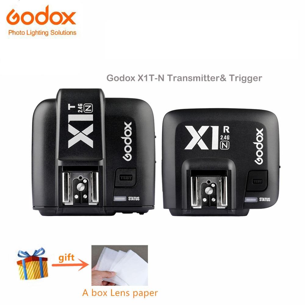 Godox X1N 2.4GHz i-TTL 2.4 G Wireless Transmitter and Triggers Receiver kit For Nikon D800 D3X D3 D2X D2H D1H D1X цена