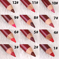 12 Colors Set Women's Professional Makeup Matt Lipliner Lip Liner Pencil