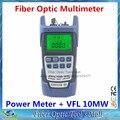 - In-one fibra medidor de potência óptica de 70 para 10dBm e 10 mw 10 km de fibra óptica cabo Tester localizador Visual de falhas