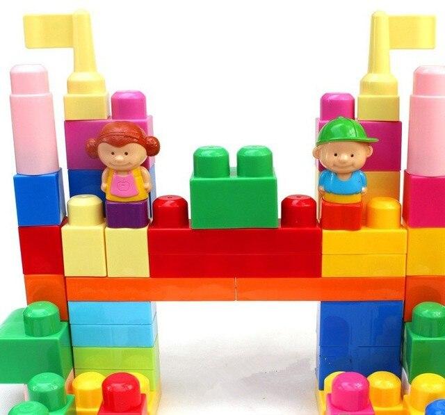 Large particles eco-friendly plastic building blocks 1.5 - 4 boxed assembled toy
