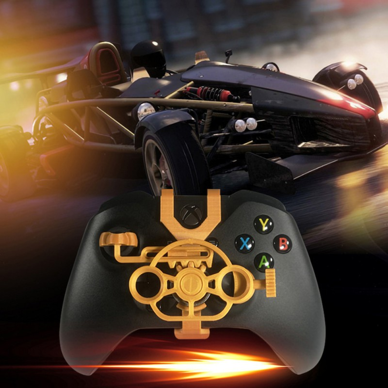 Gaming Racing Wheel For Xbox One 3D Printed Mini Steering Wheel Add On For Xbox One X / Xbox One S / Elite Controller