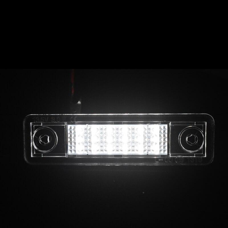 מנורות לרכב שגיאת 2x 18smd הלבן NO מנורות LED צלחת מספר עבור פורד מונדיאו MKII 1996-2000 החלפת תאורה לרכב (4)