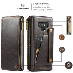 For Samsung note 9 CaseMe Leather Phone Case For iPhone 6 8 Leather Wallet Card Slots Stand Cover For iPhone X Case iPhone 7 2