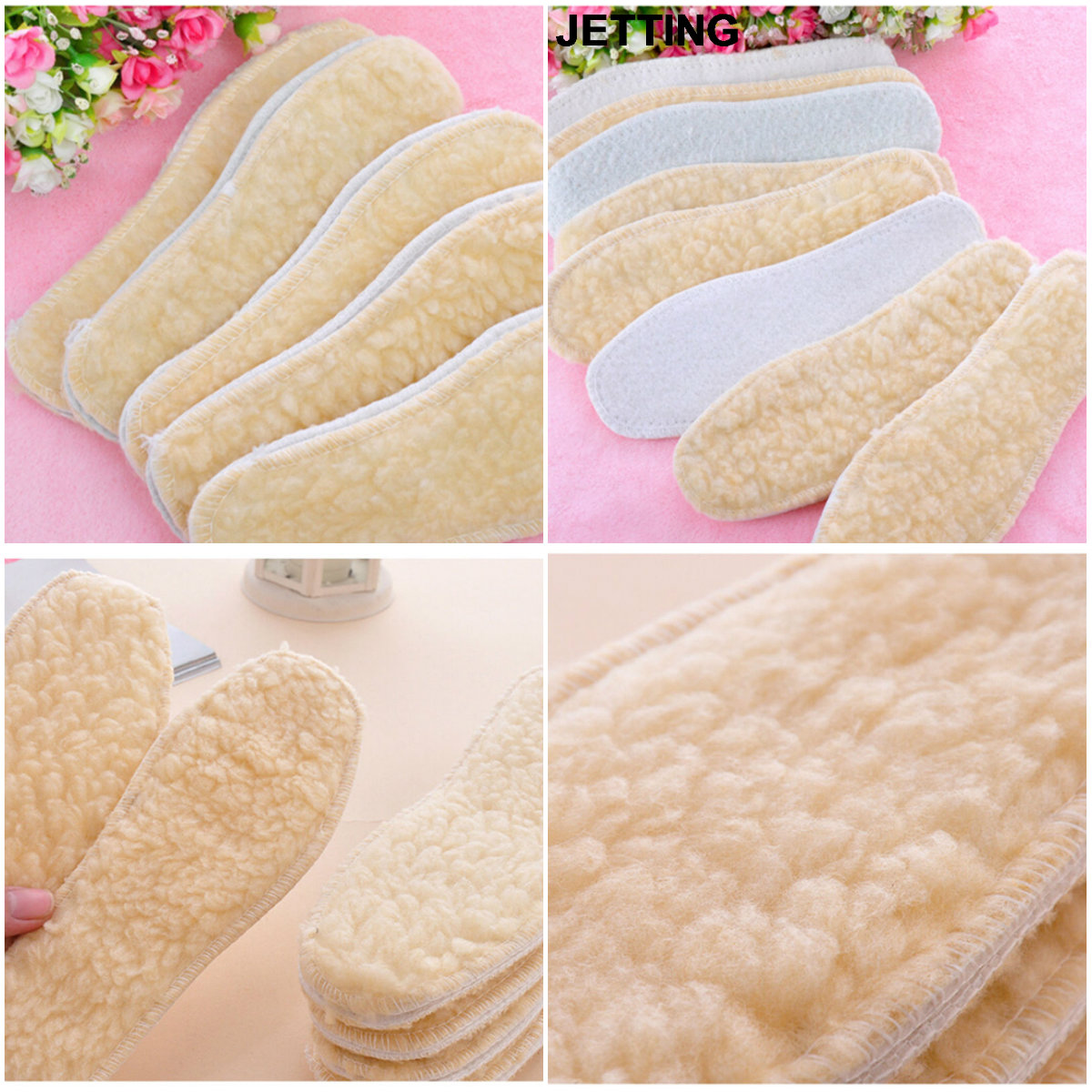 Hot 1Pair New Arrival 25cm Winter Warm Thicken Fleece Insoles Shoes Insoles For Women MenHot 1Pair New Arrival 25cm Winter Warm Thicken Fleece Insoles Shoes Insoles For Women Men