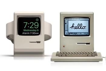Stojak URVOI do zegarka apple series 1 2 uchwyt do zegarka 4 tryb nocny naprawa keeper PC stacja do ładowania domowego do projektowania Macintosh