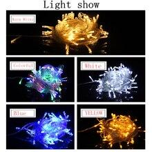 цена 5pcs LED Light String 10M 100Led  Garland Christmas Tree Fairy Light Luce Waterproof Home Garden  Outdoor Holiday Decoration онлайн в 2017 году