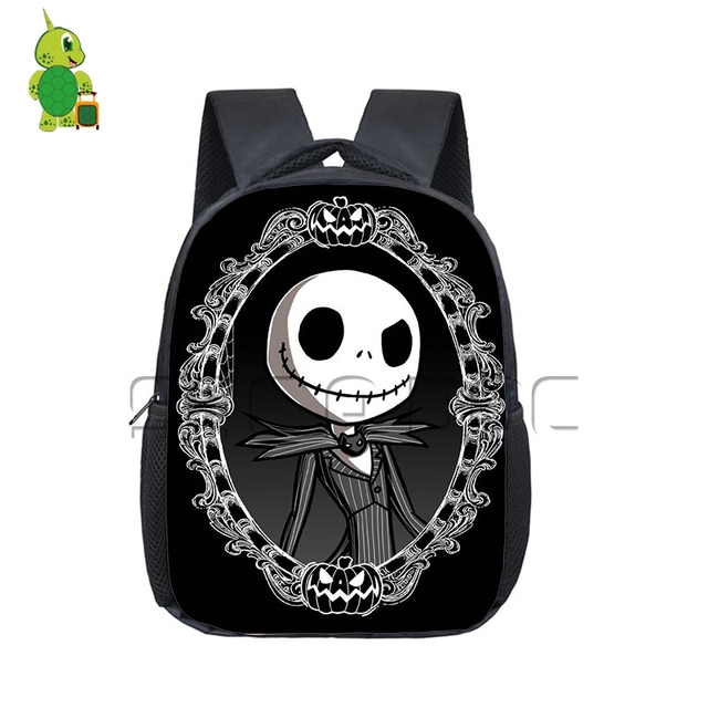 anime the nightmare before christmas backpack pumpkin king jack book bag boys girls toddler kindergarten school - Nightmare Before Christmas Backpack