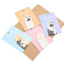 5pcs / set Memo Pad Cute Cat's Claw Творчість 30 аркушів Важливі примітки Kawaii Travel Стикери для нотаток Scrapbooking Stationery