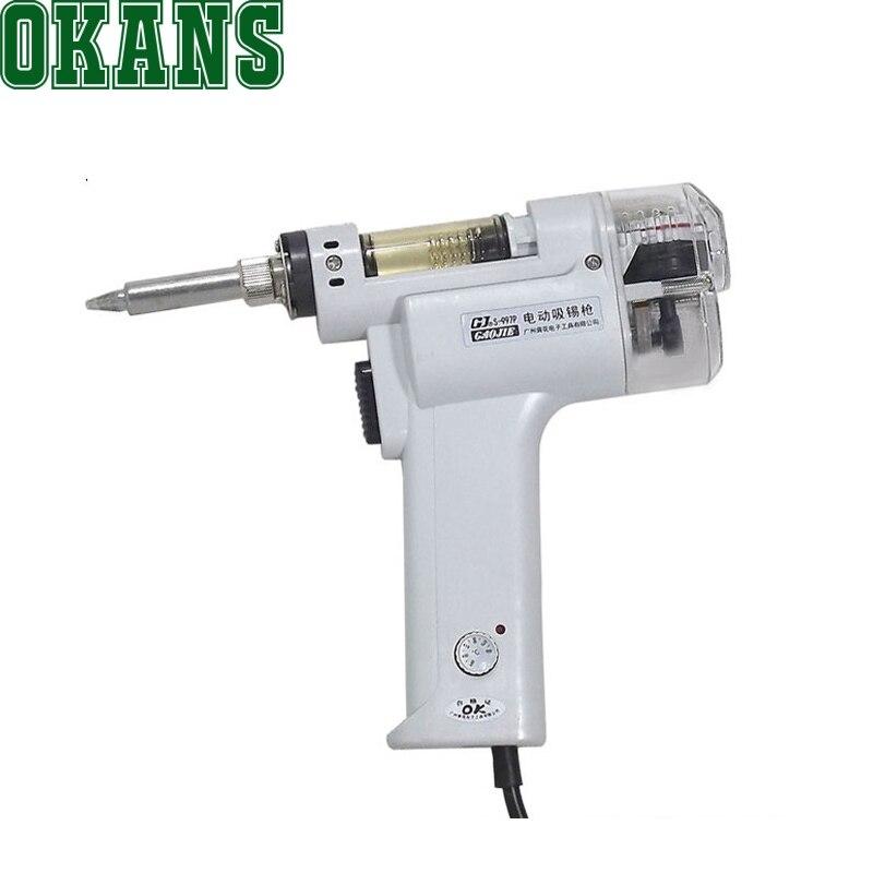 AC220V 100 Вт Электрический пистолет для удаления припоя вакуумный насос припоя присоска S 997P 350 до 450 градусов Цельсия|sucker solder|sucker pumpsucker desoldering pump | АлиЭкспресс