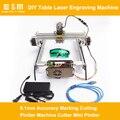 DIY Kit Laser Tisch Gravur Maschine AC110V 240 V 0 1mm Genauigkeit Kennzeichnung Schneiden Plotter Maschine Cutter Mini Plotter-in Integrierte Schaltkreise aus Elektronische Bauelemente und Systeme bei