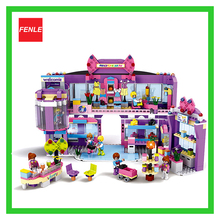 New Friends series COGO shopping mall 810 pcs Building Block Sets for Girls Educational DIY Bricks Toys