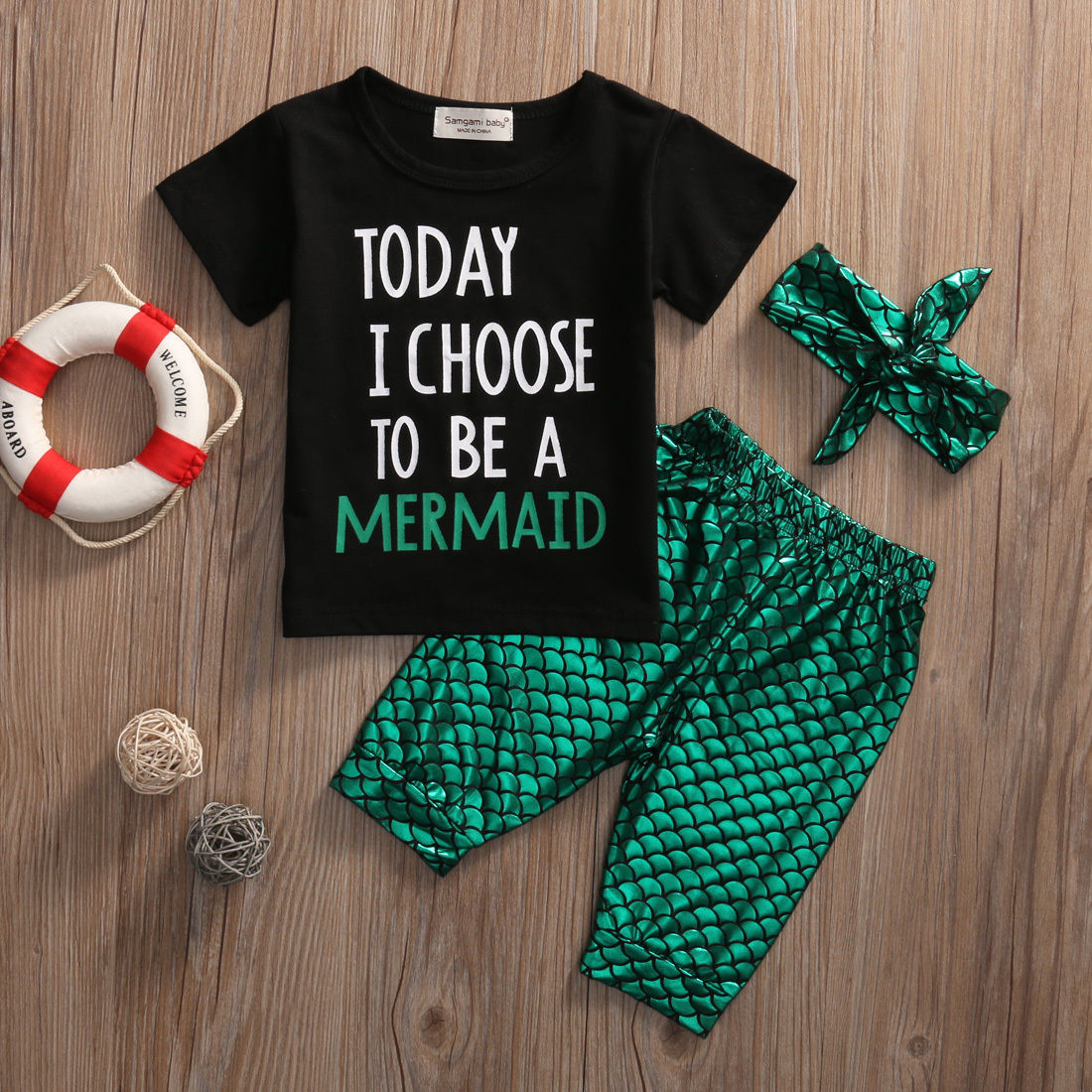 Kids Baby Girl Clothing Set Today I Choose To Be A Mermaid Summer