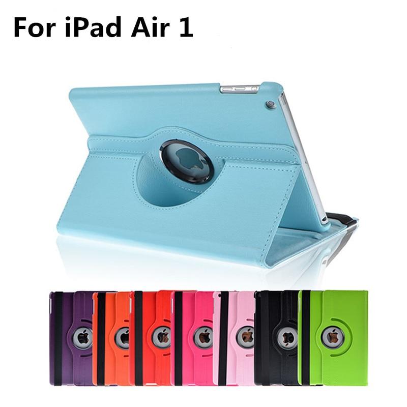 For Apple iPad Air 1 9.7 inch iPad 5 iPad5 iPadAir Air1 iPadAir1 A1822 Tablet Case 360 Rotating Bracket Flip Stand Leather Cover желание android powered apple ipad воздушный рукав тонкий ipad5 ipadair1 обложка hibernate минималистский кобура