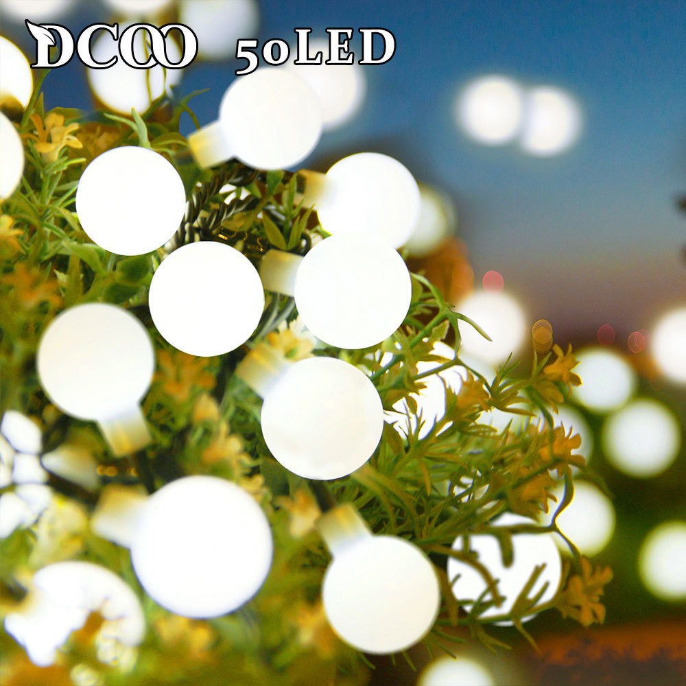 Dcoo Solar Globe LED String Lights 3 Colors 50 LEDs Ball Party Fairy Lights Garden Holiday Wedding Decoration Outdoor LightingDcoo Solar Globe LED String Lights 3 Colors 50 LEDs Ball Party Fairy Lights Garden Holiday Wedding Decoration Outdoor Lighting