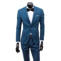 2016 Custom Made Mens Light Grey Suits Jacket Pants Formal Dress Men Suit Set Men Wedding