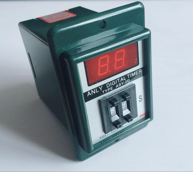 digits programmable timer delay relay ASY-2D Delay Timer Time Relay 1-99S 8PIN DC12V AC110V AC220V black dc 24v power on delay timer time relay 0 1 9 9 second 8 pins asy 2d