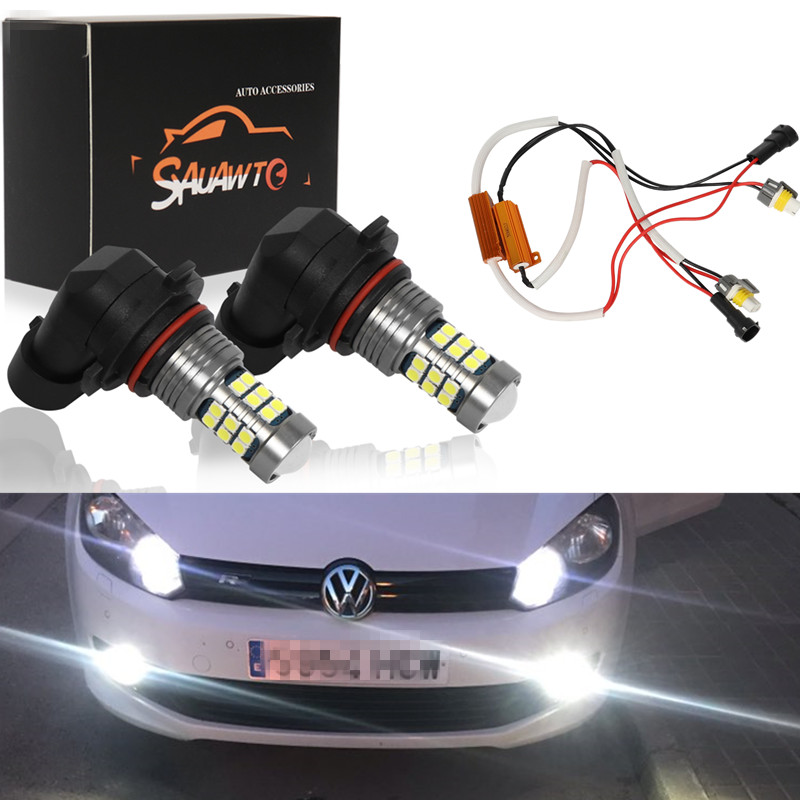 2X H8 H11 9006 HB4 LED Fog Light Bulb Auto Car Driving Lamp Bulbs For VW
