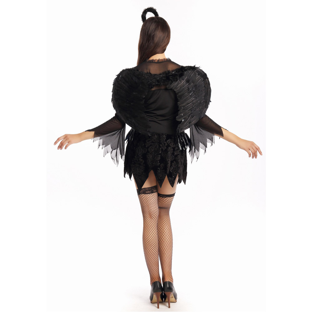 Free Shipping Sexy Dark Angel Costume for Women Fancy Dress Black Angel  with Wing Party Cosplay Dress-in Movie & TV costumes from Novelty & Special  Use on ...