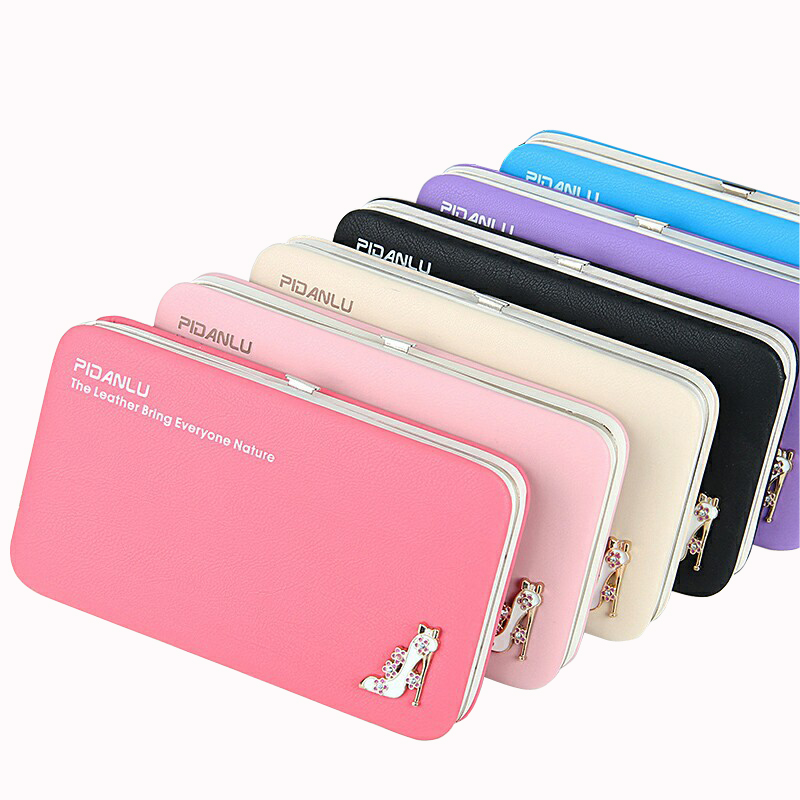 New Fresh Candy Color Women Storage Wallet Sexy High Heeled Decoration Money Purse Ladies Coin Cellphone Clutch Bag Card Holder